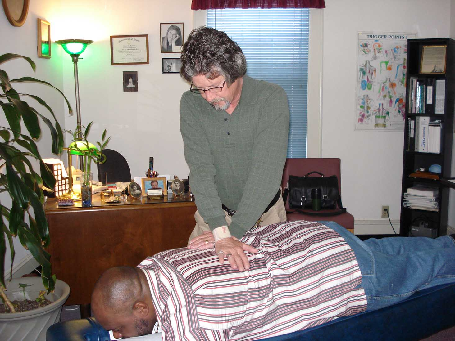 Chiropractic spinal manipulation