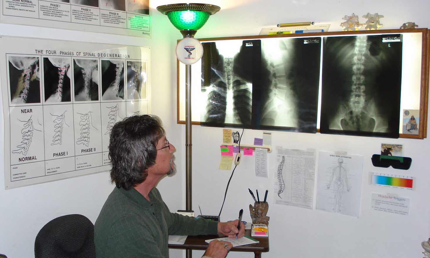 Dr. Downing and x-rays